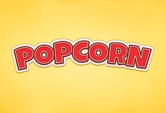 Popcorn Text Effect - Efectos para Photoshop