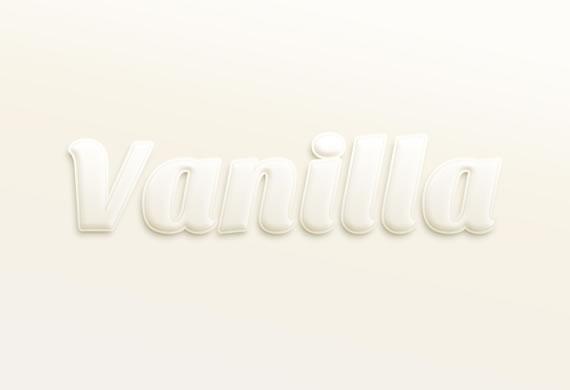Vanilla text effect - Efectos para Photoshop