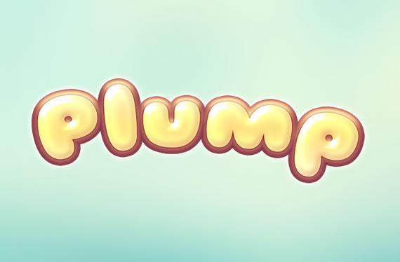 Plump Text Effect - Efectos para Photoshop