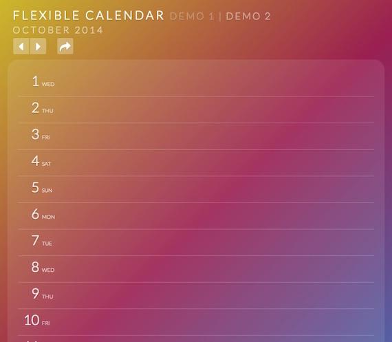 Flexible Calendar