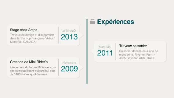 Plantilla PSD para Currículum con infografía