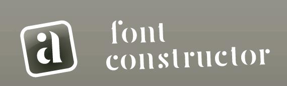 font constructor screenshot logo