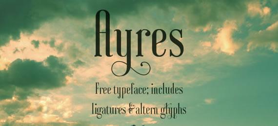 Ayres - Font