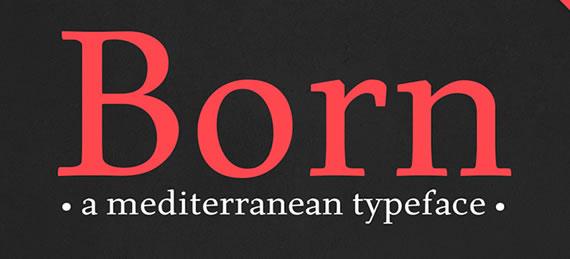 Born - Font