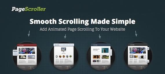 scroll animado con efecto entre secciones