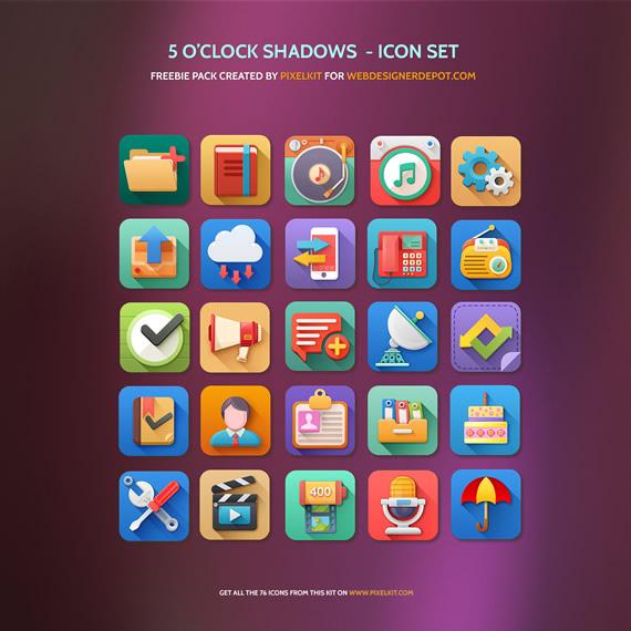 5 O'Clock shadow Icons