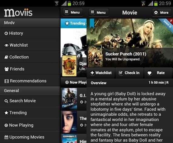 Moviis: Llevando un control de las películas vistas