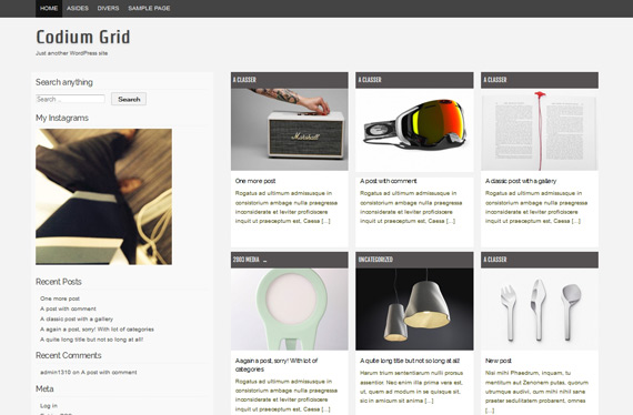 Temas gratis para WordPress: Codium Grid