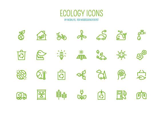 Iconos sobre ecología