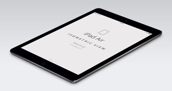 Mockup de iPad Air en PSD con dos posiciones