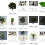 Modelos de plantas realistas V-Ray para 3D Max