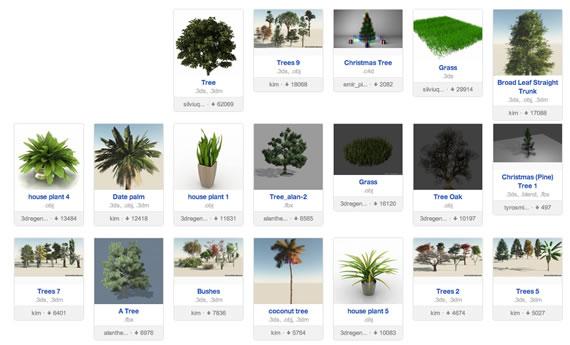 Plantas para 3DMax
