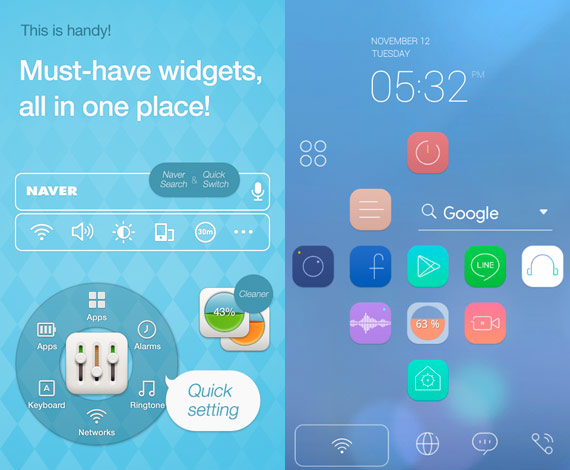 Dodol: Completo launcher para Android