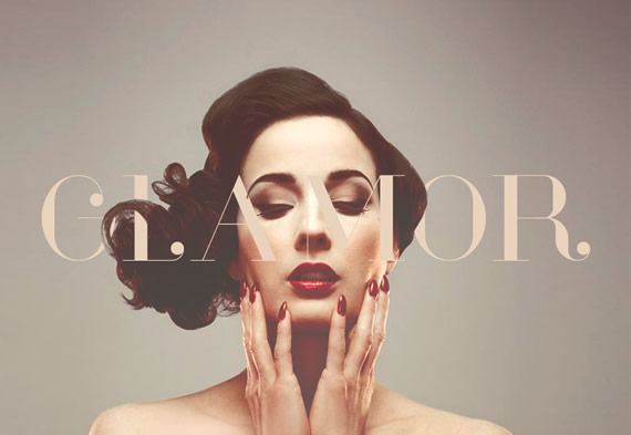 Glamor - Tipografía