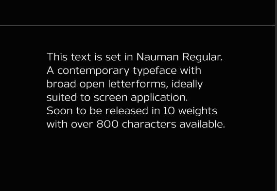 Nauman Regular - Tipografía