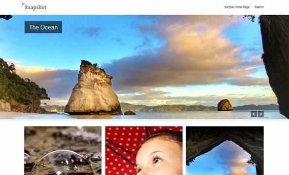 Snapshot: Theme de WordPress para fotógrafos
