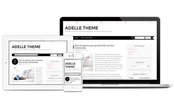 Temas gratis para WordPress: Adelle