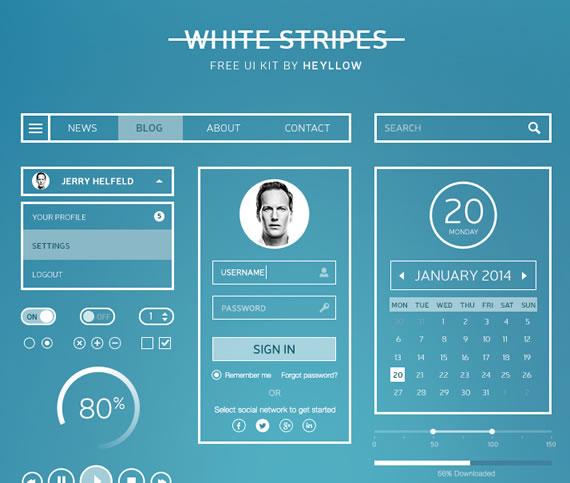 White Stripes UI Kit