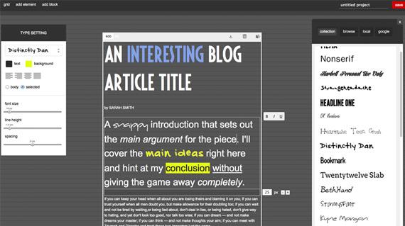 Genera contenidos tipográficos online con FontPro