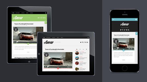 Anew: Theme para WordPress con funciones de Tumblr