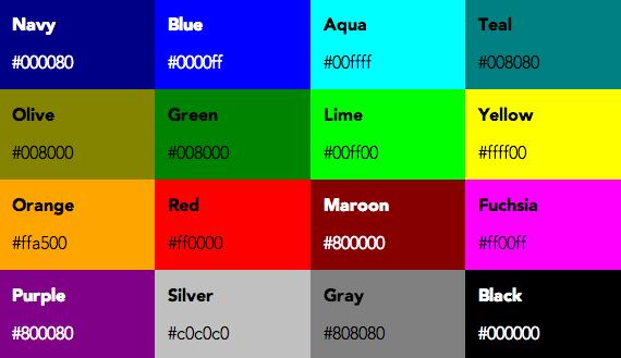 colores por defecto de los navegadores