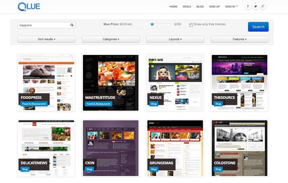 Qlue: Nuevo buscador de themes para WordPress