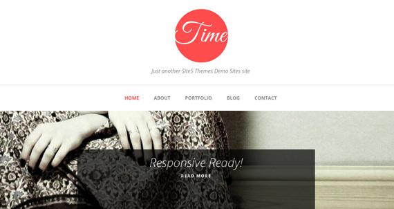 Temas gratis para WordPress: Time