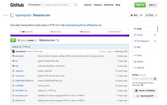 biblioteca php para manipular csv