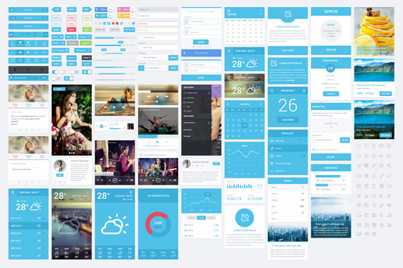 Flatastic: Mas de 100 elementos UI estilo flat
