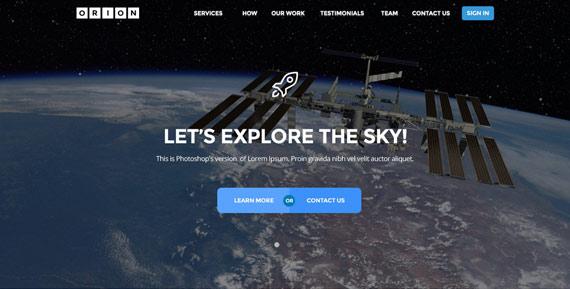 Orion: Plantilla PSD para sitio corporativo