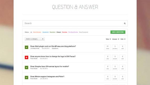 Preguntas y respuestas con plugin en WordPress