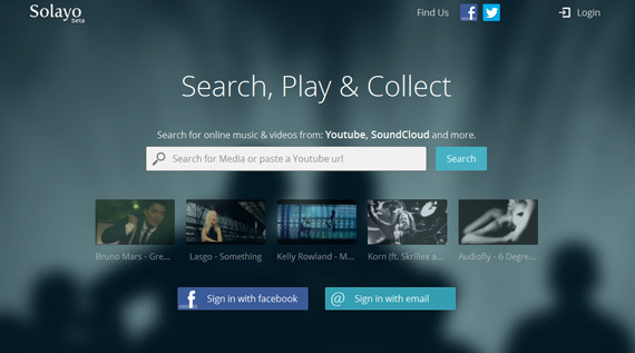 Solayo: Crear playlists desde SoundCloud y YouTube