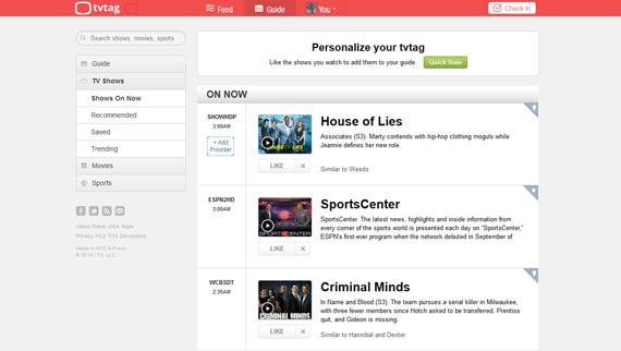 GetGlue se renueva como Tvtag