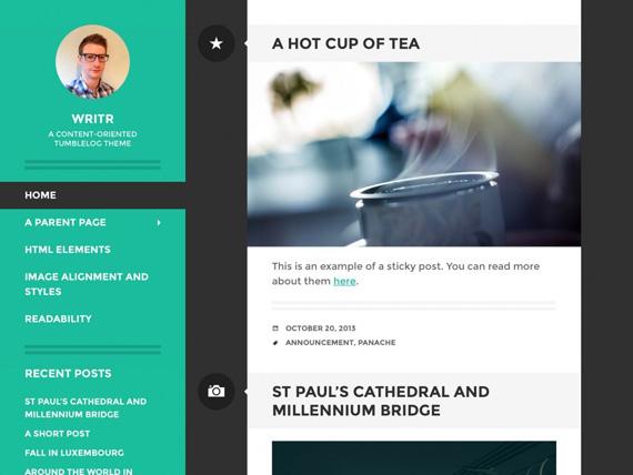 Writr: Theme para WordPress enfocado en el contenido