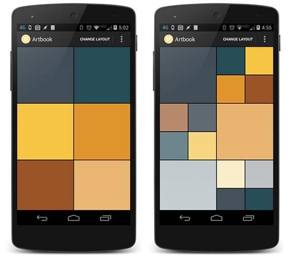 android flexible layout para galeria de imagenes