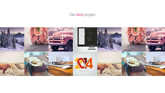 Creativa página corporativa en PSD