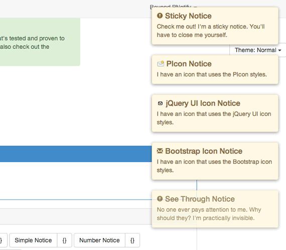 notificaciones para boostrap y jquery ui
