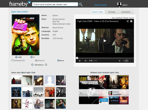 Frameby: Colecciones de películas por temáticas
