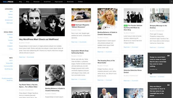 Themes gratis para WordPress: WallPress