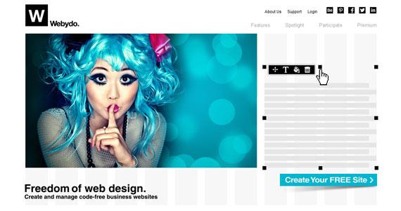 Webydo: Crear sitios web fácilmente