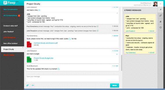 Fleep: Mensajería para equipos de trabajo
