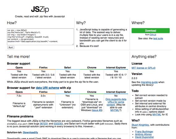 comprimir zip con javascript