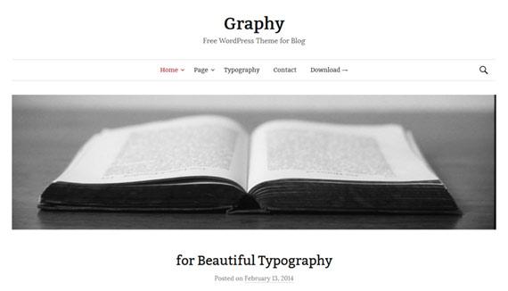 Themes gratis para WordPress: Graphy