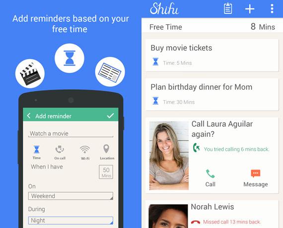 Shifu: gestor de tareas personales para Android