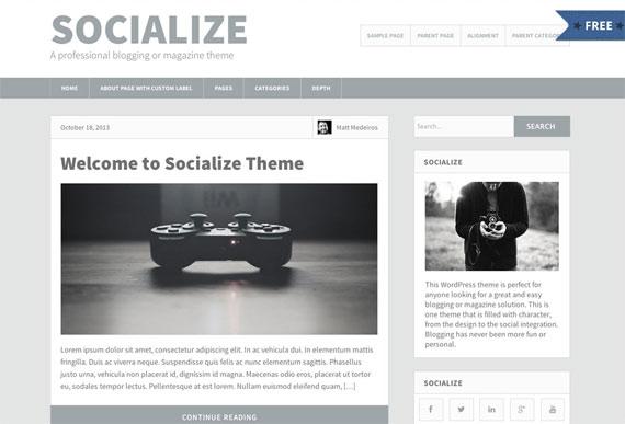 Themes gratis para WordPress: Socialize Lite