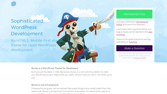 Bones: theme base para WordPress gratis