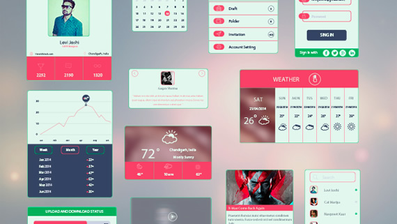 Bold and Colorful UI Kit