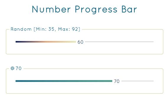 barra de progreso con numeros
