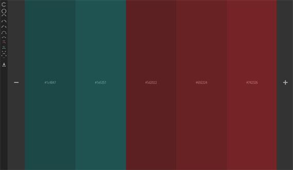Colourcode: Generador de paletas de colores online