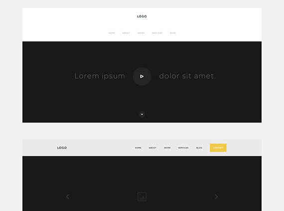 One Page Website Wireframe